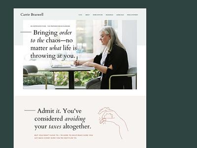 Accountant Branding + Website Redesign brochure minimal web design clean branding