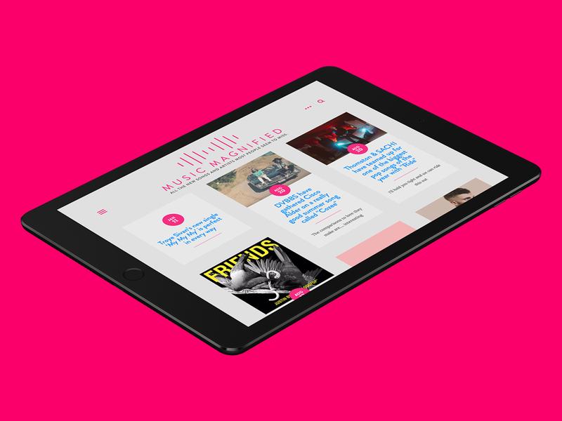 Music Magnified Blog color minimal blog squarespace branding logo websites website web web design design