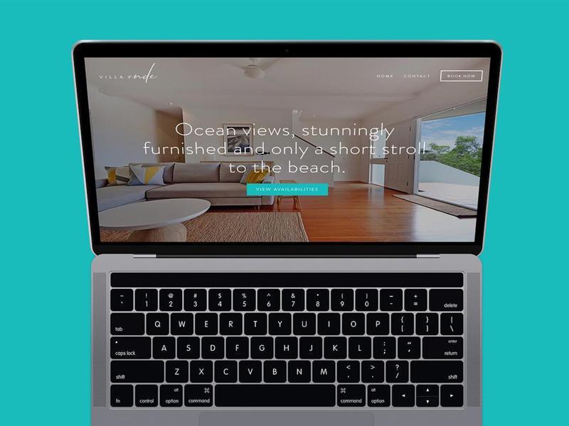 Villa Onde Website html squarespace logo branding websites website web web design design color