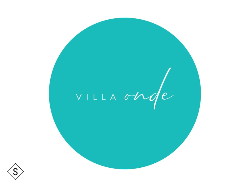 Villa Onde Logo logotype logo design logodesign logos minimal logo branding design color