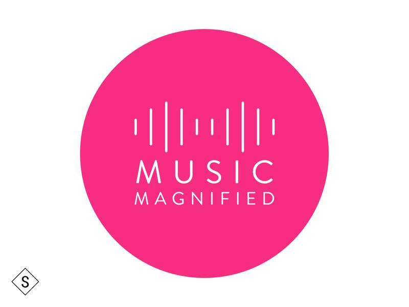 Music Magnified Logo logos logo design minimal logo design branding color