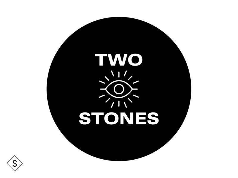Two Stones Logo minimal logo design branding