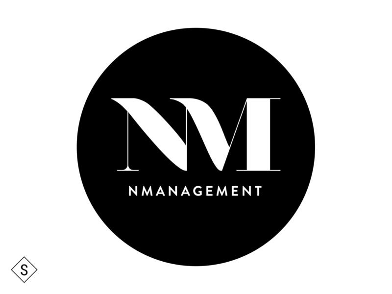 NManagement Logo logo design logos minimal logo design color branding