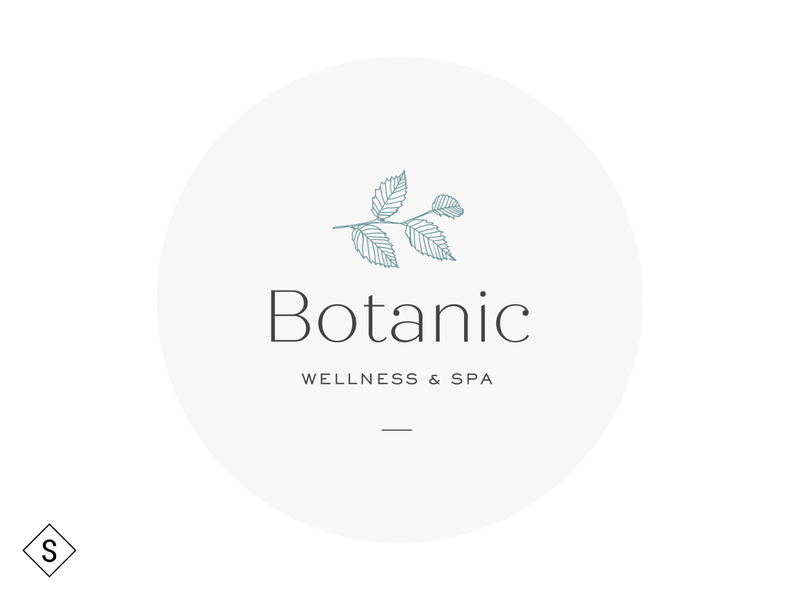 Botanic Wellness & Spa Logo logos logo design minimal logo color branding design