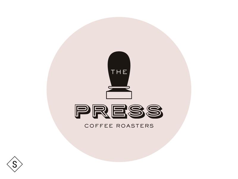 The Press Coffee Roasters logos logo design minimal logo color branding design