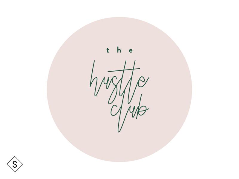 The Hustle Club Logo logos logo design minimal logo color branding design