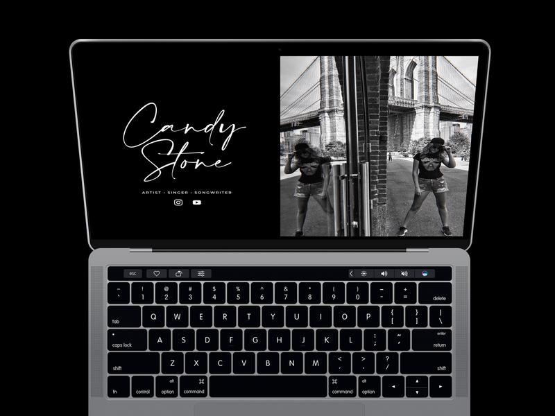 Candy Stone Music Website logo color branding minimal design