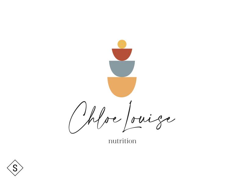 Chloe Louise Nutrition Logo vector ui illustration logos logo design logo color branding minimal design