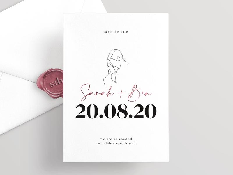 Save The Date Card website web design web logos logo design logo color branding minimal design