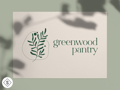 Greenwood Pantry Logo website web design web logos logo design minimal logo color branding design
