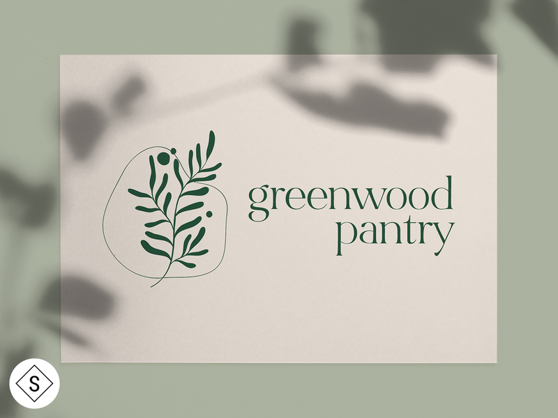 Greenwood Pantry Logo website web design web logos logo design minimal logo color branding design