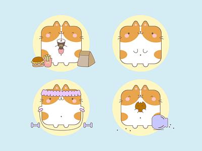 Cute Stickers cute illustration cute animal cute art cute funny character funny illustration funny cookies cookie sport mcdonalds cats cat stickers sticker kawaii art kawaii illustration illustrator