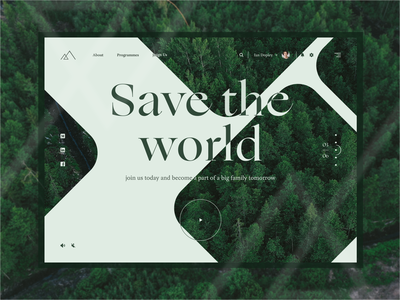 Save The World green forest landing page design landing page landing uiux design uiuxdesign uiux ux ui webdesign web design web design charity organization world