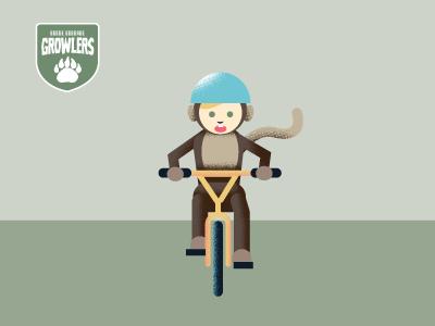 Kids On Bikes helmets rock and roll monkey basketball superman texture kids children bikes illustration