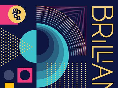 Brilliant 2016 tron beige black yellow blue pink geometry art party goca