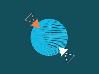 Impact WIP pattern texture geometry orange green yellow blue hexagon circle triangles
