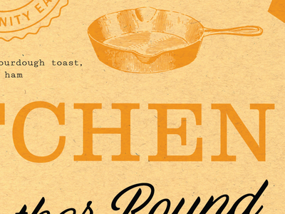 Sneak peek clarendon slab script texture yellow eat tomatoes pig chicken arrow badge kitchen