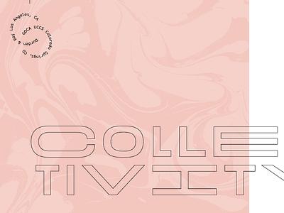 Collectivity los angeles colorado springs badge contemporary goca pink marble art