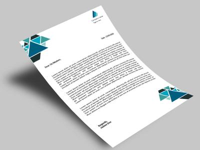 LetterHead/Letterpad flyer design banner banner ad typography poster design branding print ad illustration design branding design