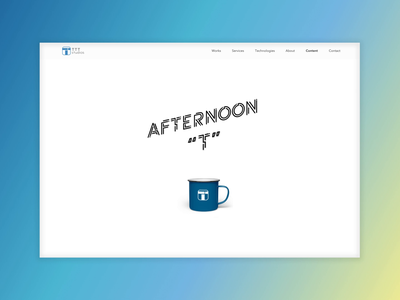 """Afternoon """"T"""" Podcast website color clean interface interaction ux ui podcast web animation video"""