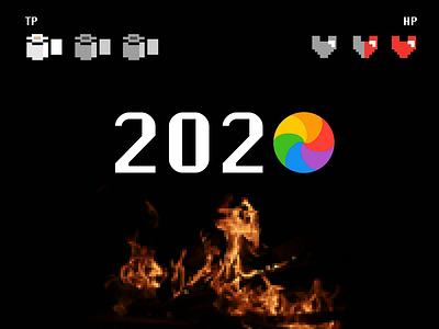 Hello 2021 new year pixel 8-bit games retro concept graphic design animation interaction