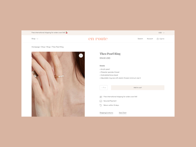 Product Detail Scenarios jewelry pink minimal typography logo web logotype branding store design ecommerce ui design web design iconography dropdown menu out of stock product detail page