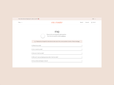 FAQ Animation | Ecommerce adobe xd ui ux logotype jewelry website ui design branding dropdownmenu code snippet website animation web development web design ecommerce faq page faq animation