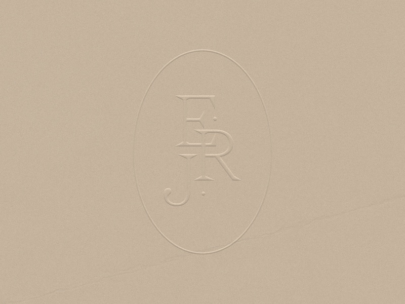 Elegant Wedding Monogram Branding Embossed Logo feminine design erj monogram initials logo logo brand identity weddings photographer logo wedding card wedding invitation elegant monogram logo monogram brand design wedding planner branding wedding wedding branding logo mockup embossed logo branding logotype