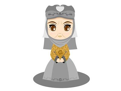 La Reina de las Espinas Lady Olenna chibis lareinadelasespinas ladyolenna casatyrell gameofthrone typography branding logo diseño vector illustration ui ux design illustration vector