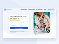 Pet Shipping Hero clean website ui website design web design cta form header hero pets shipping pet