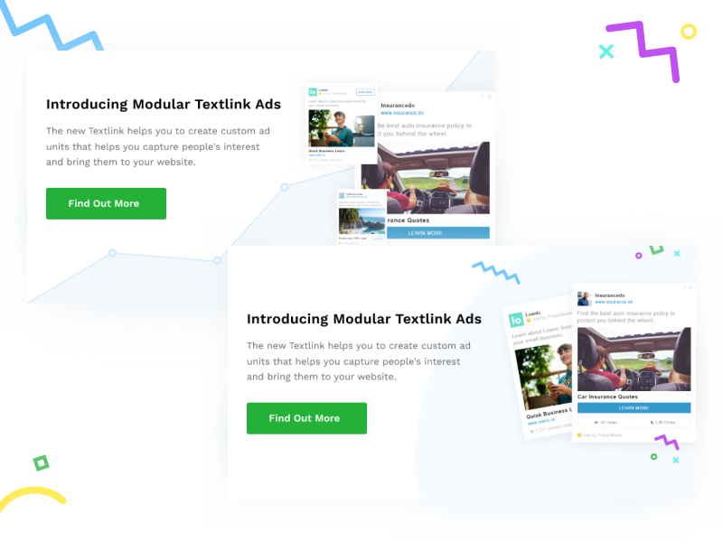 Banners colorful clean ui statistic ads banners