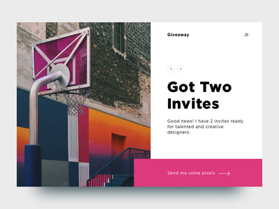 Got Two Invites prospect draft community invite invitations giveway dribbble 2xinvite