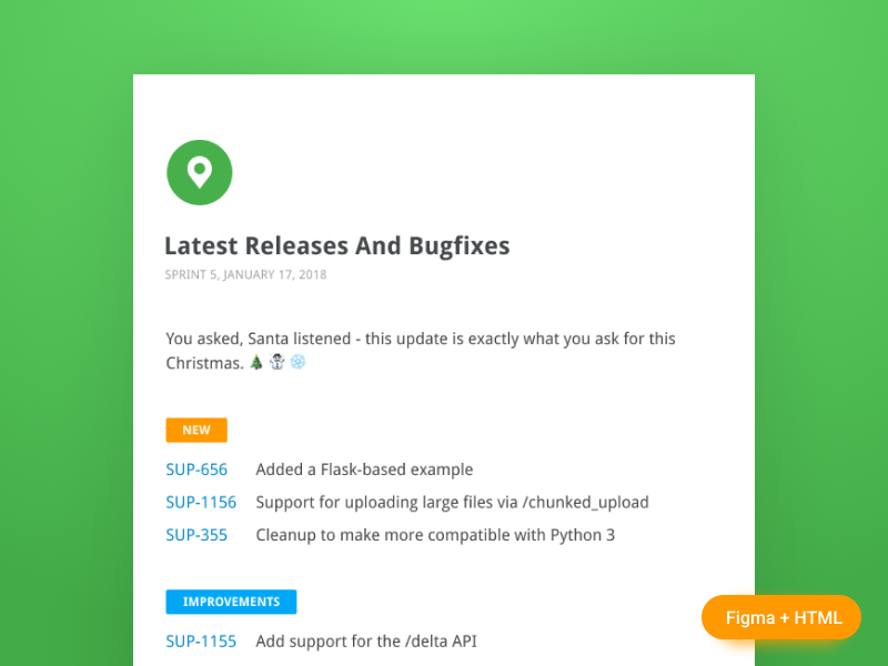 Release Notes Freebee email template tag notes release labels release notes changelog