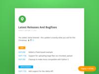 Release Notes Freebee