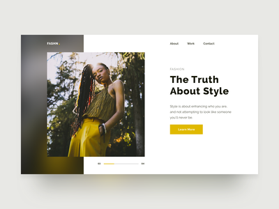 Hero exploration flat website web ux ui typography fashion minimal layout hero detailpage design clean