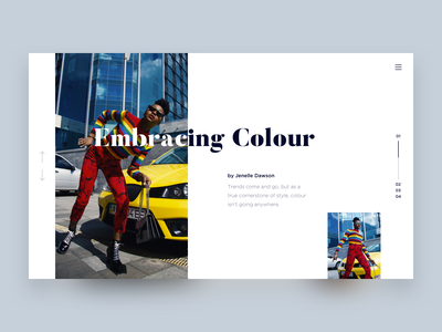 Embracing Colour article fashion interface ux web homepage layout design typography website flat ui clean minimal