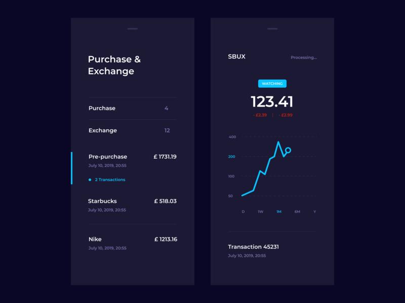 Stocks App interface layout web ux ui mobile minimal hiwow flat design dashboard app dashboard crypto exchange crypto cards bank app bank app