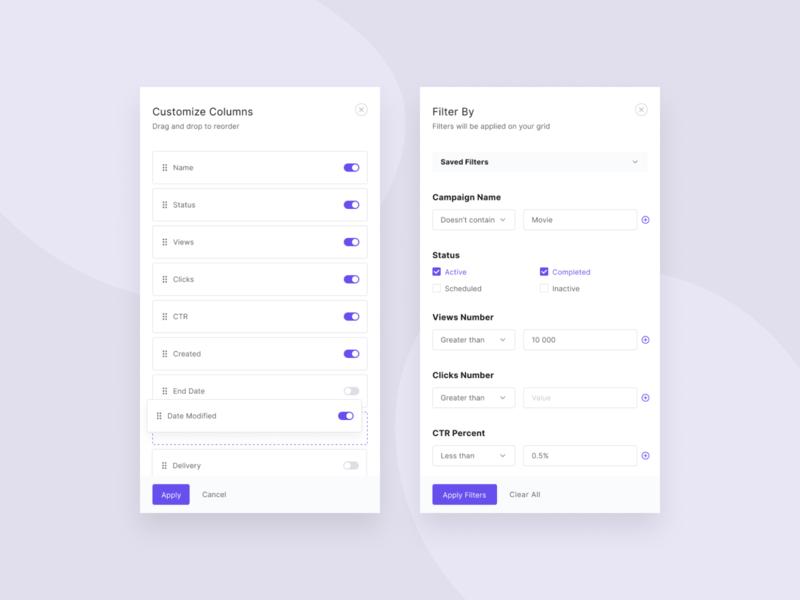 Dashboard widgets widgets ux ui table minimal grid design dashboard clean
