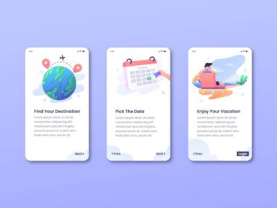 Onboarding Screen - Mobile App mobile