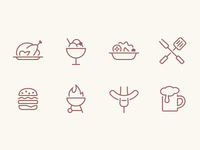 iOS Food Icons