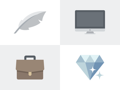 Pricing Page Icons icons unlimited pro lite bling diamond briefcase desktop computer mac feather