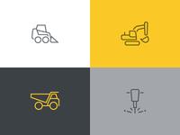 Roadwork icons