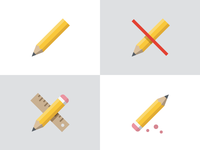 Pencil icon variations
