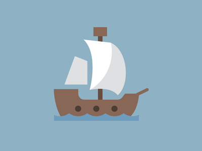 Pirate Ship colorful dutch icon vivid flat design ship pirate icon