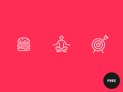 60 Free icons in iOS Wired style wired target yoga hamburger icons icon lines outline ios