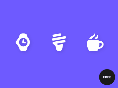 60 Free icons in Pika style coffee light bulb cfl watch icon icons pika