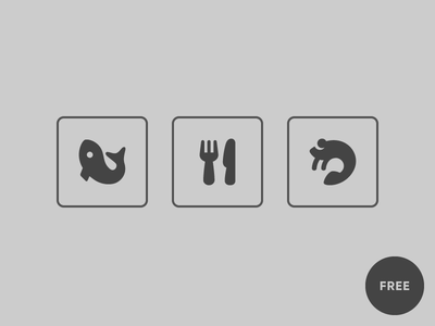 Restaurant icons pika icon icons seafood shrimp knife fork cutlery fish restaurant