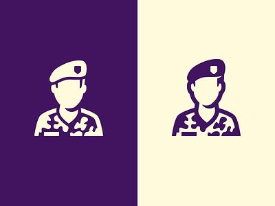 Ground Forces Icon for the Dutch Government baret custom icon design icon set icon soldier dutch government rijksoverheid