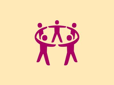 Chain of People Icon custom icon design dutch government dutchicon people chain icon design icons icon