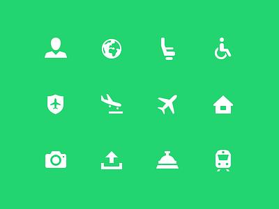 Airport Icons Transavia camera train wheelchair disabled icon design icons airplane airport transavia